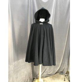 3943 - Navy Thermalpro Fleece Cloak, Pewter Vale Clasp