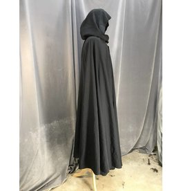 3941 - Midnight Navy Wool Full Circle Cloak, Pewter Vale Clasp