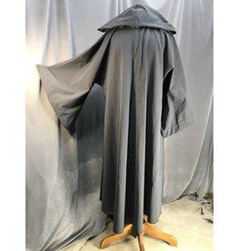 R445 - Slate Grey Jedi Robe w/Pockets, Pewter Vale Clasp