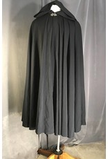 Cloak and Dagger Creations 3951 - Navy Summer-Weight Wool Cloak, Silver-tone Vale Clasp