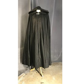 3952 - Sparkly Black Full Circle Cloak, Pewter Vale Clasp