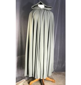 3953 - Extra Long Sage Green Full Circle Cloak, Pewter Vale Clasp