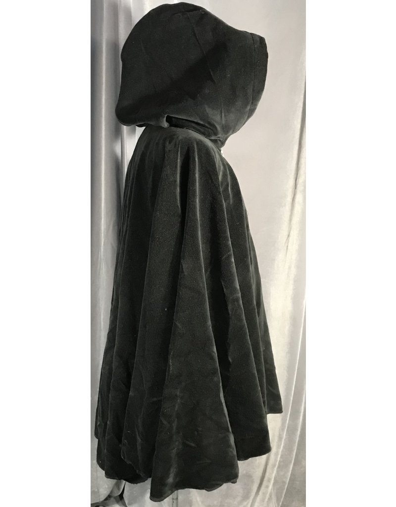Cloak and Dagger Creations 3994 -  Black Velvet Cloak, Royal Blue Hood Lining, Pewter Vale Clasp