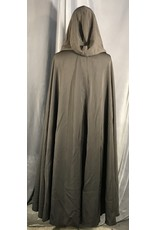 4009 - Brown Rayon Blend Full Circle Cloak, Unlined Hood, Pewter Vale Clasp