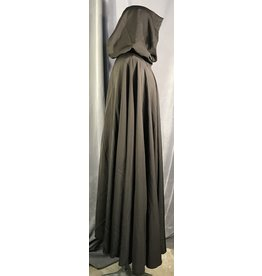 Cloak and Dagger Creations 4013 - Brown Lightweight Full Circle Cloak, Unlined Hood, Silver-Tone Vale Clasp