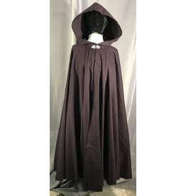 4014 - Eggplant Purple Full Circle Cloak, Unlined Hood