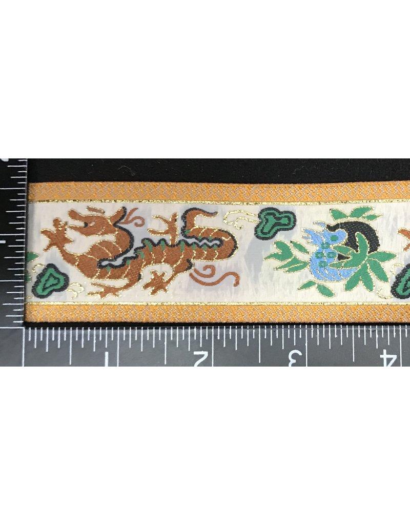 Cloak and Dagger Creations Dragon Garment Trim - Brown, Green, Gold, w/ Yellow Edges