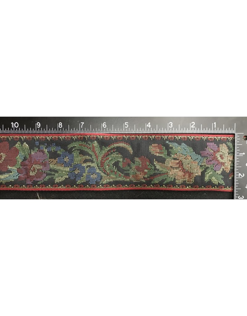 Cloak and Dagger Creations Floral Tapestry Trim w/Gold