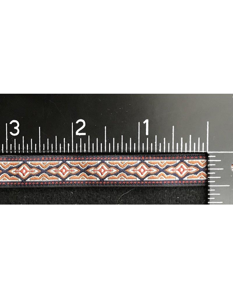 Cloak and Dagger Creations Long Diamond Geometric Trim Red/Grey/Curry on  Black