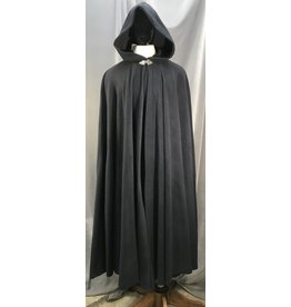 4021 - XL Navy Fleece Cloak, Pewter Triple Medallion Clasp