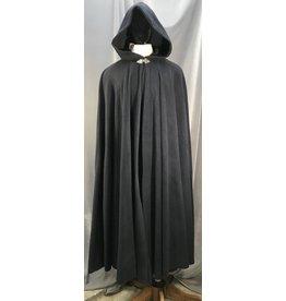 4021 - XL Navy Fleece Cloak, Pewter Triple Medallion Clasp