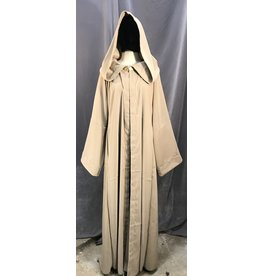 R451 - Washable Tan Brown Robe w/Pockets, Gold Vale Clasp