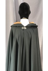 Cloak and Dagger Creations 4038- Midnight Green Full Circle Cloak, Fawn Microfiber Hood Lining, Silver-tone Vale Clasp