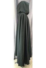 4038- Midnight Green Full Circle Cloak, Fawn Microfiber Hood Lining, Silver-tone Vale Clasp