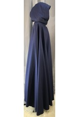 4040 - Navy Blue Full Circle Cloak, Midnight Blue Hood Lining, Pewter Triple Medallion Clasp