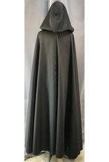 4042 - Washable Black Full Circle Cloak, Pewter Vale Clasp