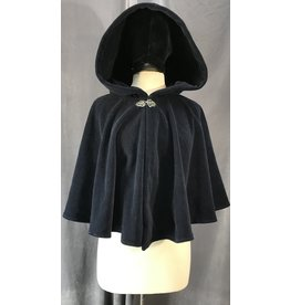 4044 - Navy Blue Windbloc Short Cloak, Pewter Vale Clasp