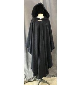 Cloak and Dagger Creations 4045 - Navy Blue Windpro Fleece Ruana, Pewter Triple Medallion Clasp