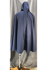 Cloak and Dagger Creations 4046 - Easy Care Navy Blue Full Circle Rain Cloak w/ Liripipe Hood, Pewter Vale Clasp