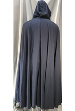4050 - Navy Blue Wool Easy Care Summer Weight Full Circle Cloa,, Pewter Vale Clasp
