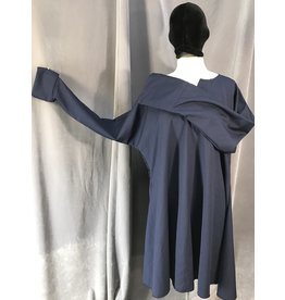 J605 - Navy Blue Wool Easy Care Long Sleeve Tunic