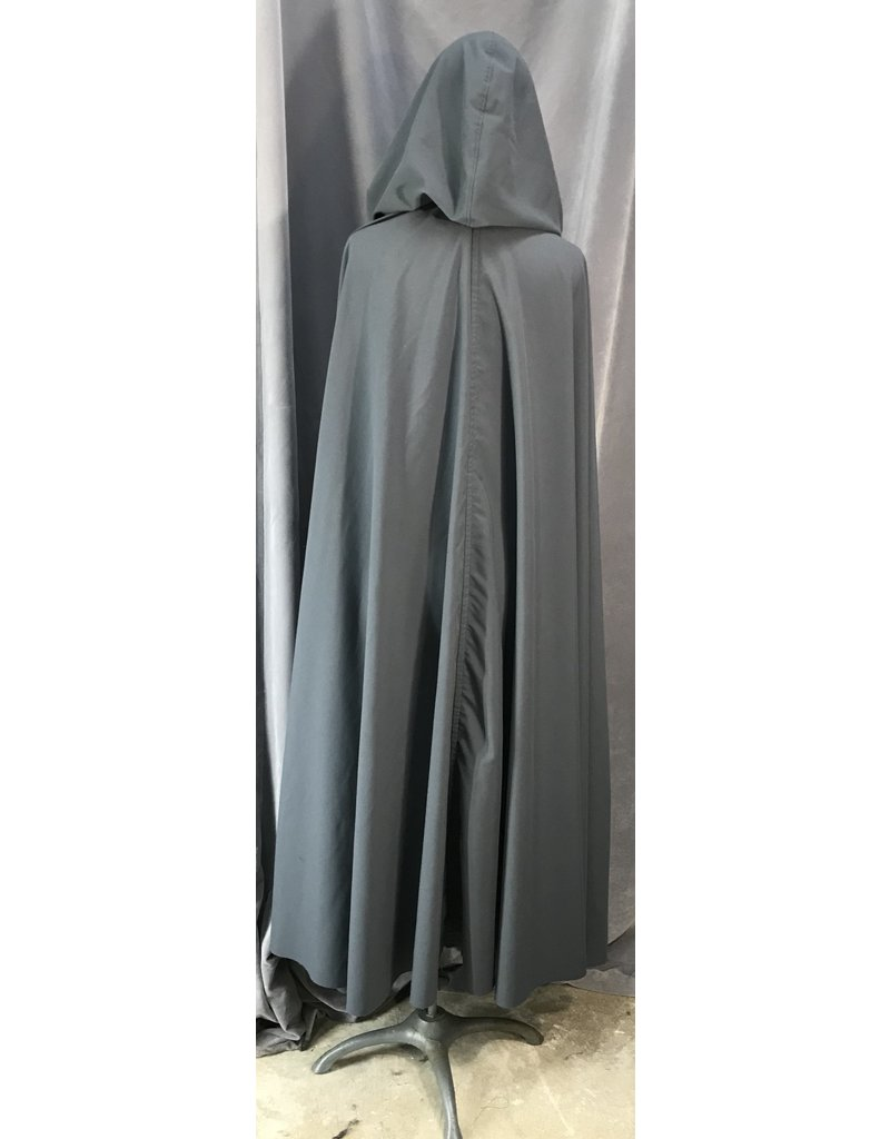4052 - Easy Care Smoke Grey Lightweight Full Circle Cloak, Pewter Vale Clasp