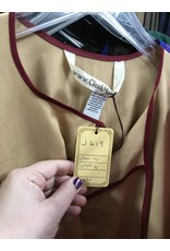 Cloak and Dagger Creations J619 - Beige Natural Tan Brown Simple Tunic with Burgandy Red Trim