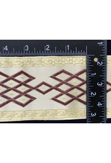 Cloak and Dagger Creations Celtic Mongol Diamonds & Dots  Wide - Burgandy on Cream