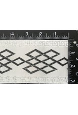 Cloak and Dagger Creations Celtic Mongol Diamonds & Dots Wide - Black on White