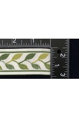 Cloak and Dagger Creations Linked Leaves Trim Narrow - Greens on Cream