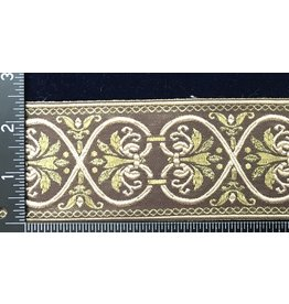 Cloak and Dagger Creations Hearts and Flowers Trim - Beige/Gold on Brown
