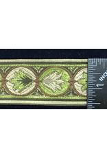 Cloak and Dagger Creations Lotus Lotus Trim - Greens/Gold/Brown on Beige