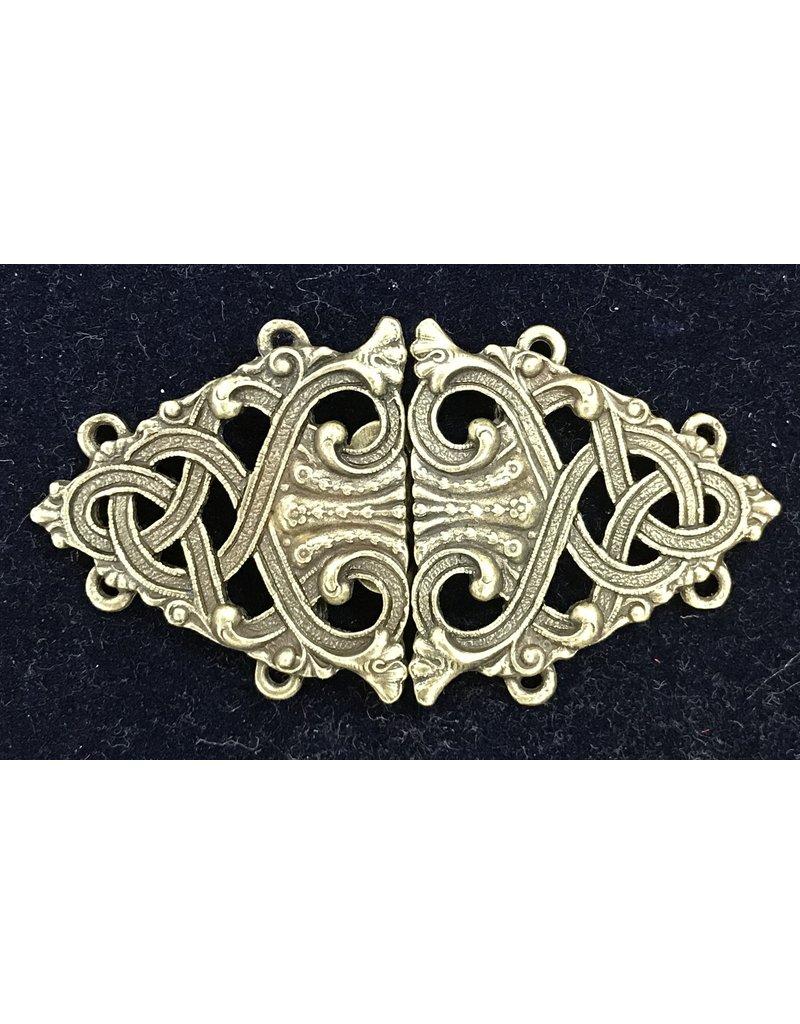 Cloak and Dagger Creations Formal Renaissance Knotwork Cloak Clasp - Bronze Tone Plated