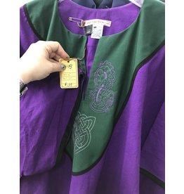J648 - Purple Tunic w/Green Yoke, Hippocampus & Celtic Knot
