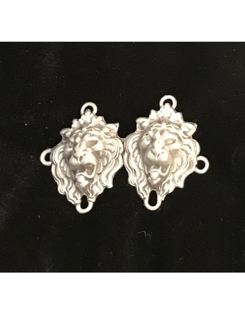 Cloak and Dagger Creations Lion Crowned Heads Cloak Clasp - Pewter