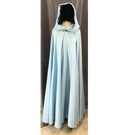 Cloak and Dagger Creations 4087 - Sky Blue Water Resistant Easy Care Full Circle Cloak, Pewter Vale Clasp