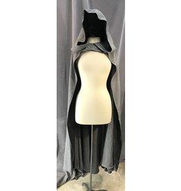 Cloak and Dagger Creations 4088 - Heathered Cool Grey Hobbit Cloak, Black Hood Lining, Grey Buttons