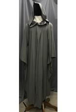 Cloak and Dagger Creations R454 - Lightweight Grey Gandalf Robe w/Pockets, Flared Sleeves, Rope Hook & Eye Clasp