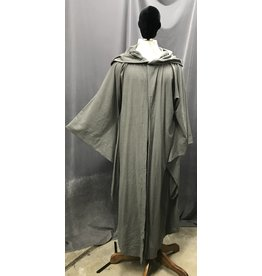Cloak and Dagger Creations R454 - Lightweight Grey Gandalf Robe w/Pockets, Flared Sleeves, Rope Hook & Eye Clasp