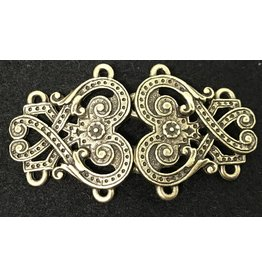 Cloak and Dagger Creations Byzantine Swirls Cloak Clasp - Antique Bronze