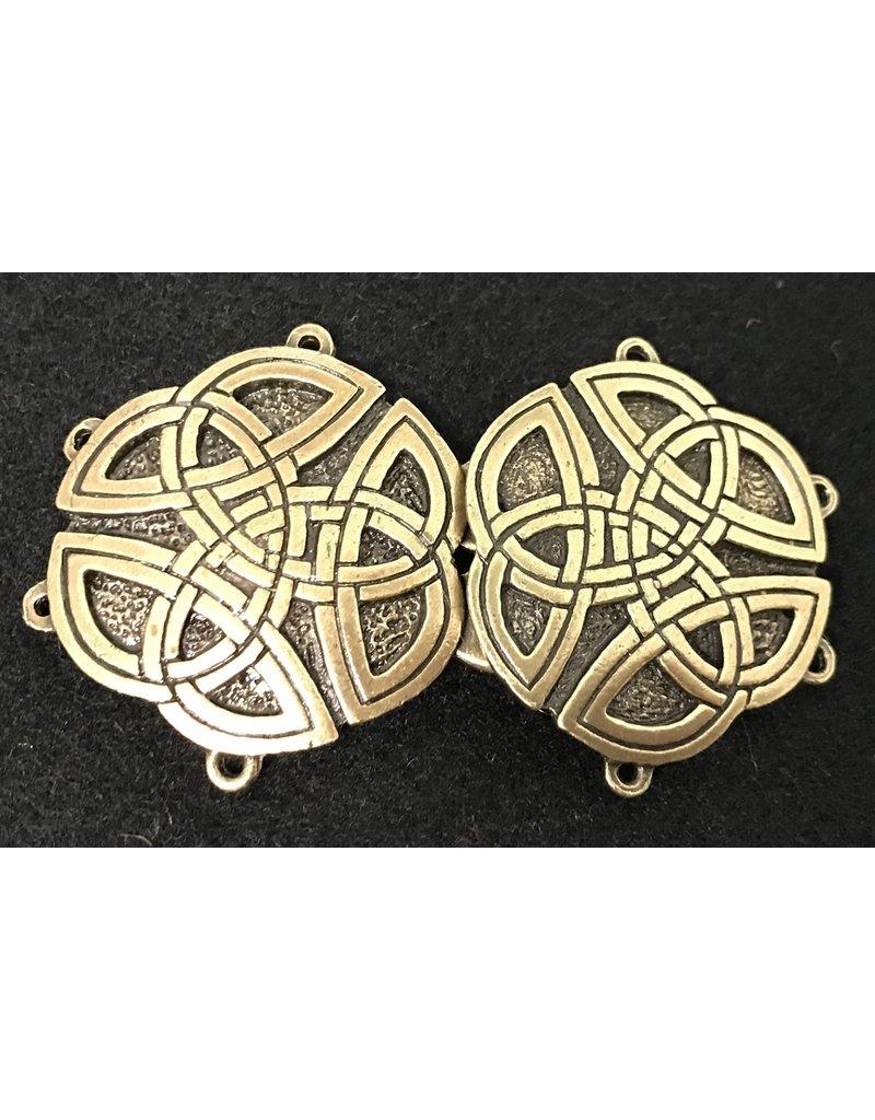 Cloak and Dagger Creations Round Triscale Cloak Clasp - Antique Bronze