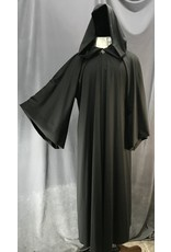 Cloak and Dagger Creations R453 - Jet Grey Jedi Robe w/Pewter Vale Clasp, Pockets!