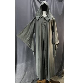 Cloak and Dagger Creations R455 - Battleship Grey Extra Long Easy Care Wool Blend Jedi Robe w/Pockets