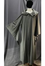 Cloak and Dagger Creations R455 - XXXL Grey Jedi / Grey Gandalf Washable Lightweight Wool Blend Robe w/Pockets
