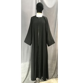 Cloak and Dagger Creations R458 - Black Hoodless Robe, Straight Sleeves
