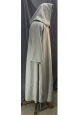 Cloak and Dagger Creations R460 - Pale Variegated Grey Extra Long Jedi Robe, Hidden Hook & Loop Clasp