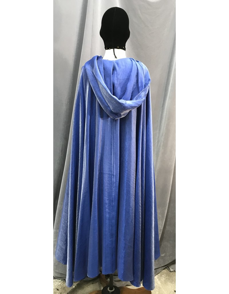 Cloak and Dagger Creations 4093 - Shimmering Royal Blue Easy Care Full Circle Cloak, Pewter Vale Clasp