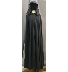 Cloak and Dagger Creations 4092 - Deep Midnight Blue Easy Care Extra Long Cloak, Pewter Vale Clasp