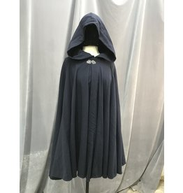 Cloak and Dagger Creations 4086 - Midnight Blue Easy Care Full Circle Cloak, Pewter Triple Medallion Clasp