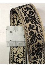 Cloak and Dagger Creations Bordered Leaves Trim. Black on Light Gold